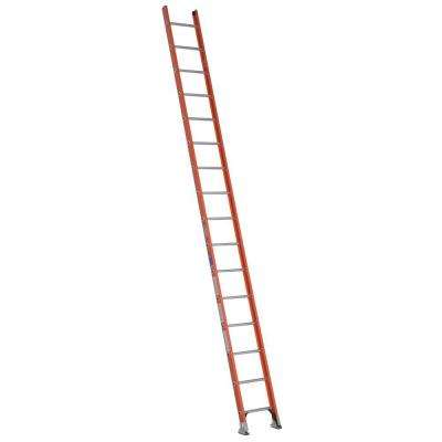 16 ft. Fiberglass D-Rung Straight Ladder with 300 lb. Load Capacity Type IA Duty Rating