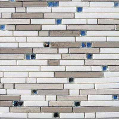 Fable The Woodsman 11-1/4 in. x 12 in. x 10 mm Polished Marble Mosaic Tile