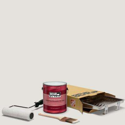 1 gal. #PPU18-08 Painters White Ultra Matte Interior Paint and 5-Piece Wooster Set All-in-One Project Kit