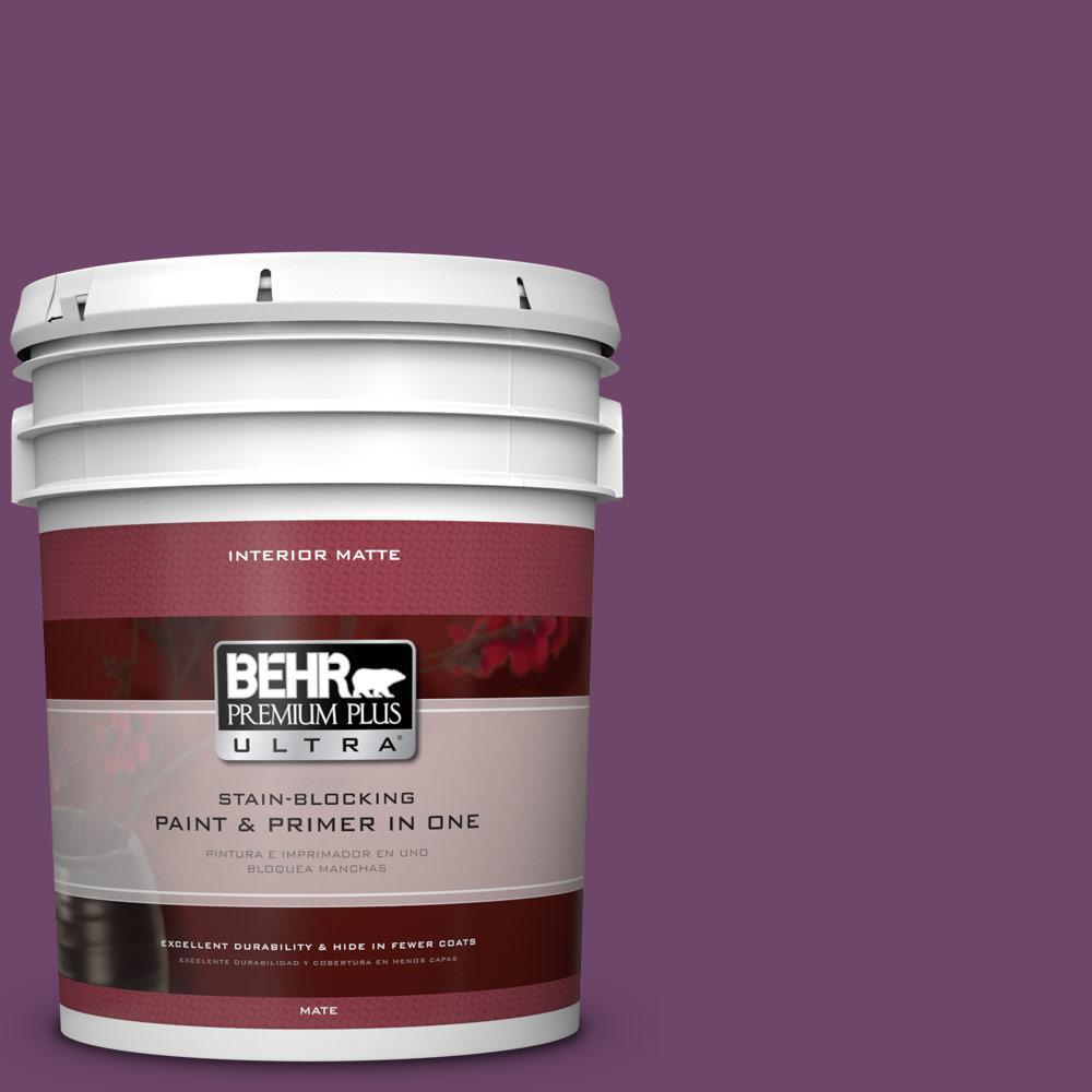 BEHR Premium Plus Ultra 5 gal. #S-G-680 Raspberry Mousse Flat/Matte Interior Paint