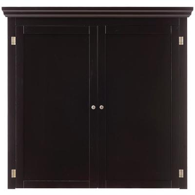 Prescott Black Modular Pantry Open Top with Wine Rack