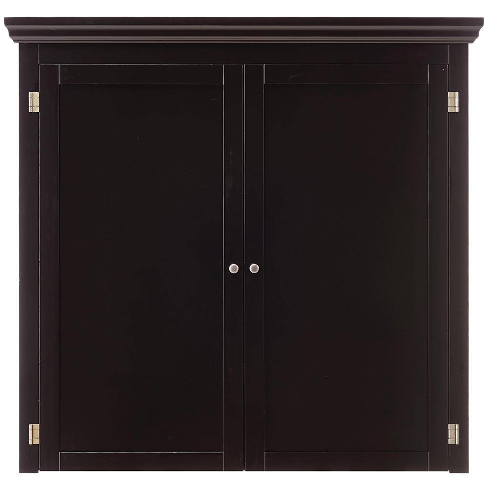 Prescott Black Modular Pantry Open Top with Wine Rack