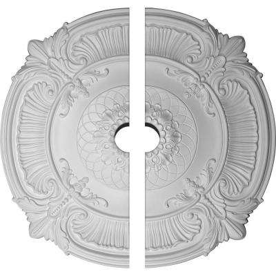 39-1/2 in. O.D. x 3-3/4 in. I.D. x 2-1/2 in. P Attica Ceiling Medallion (2-Piece)