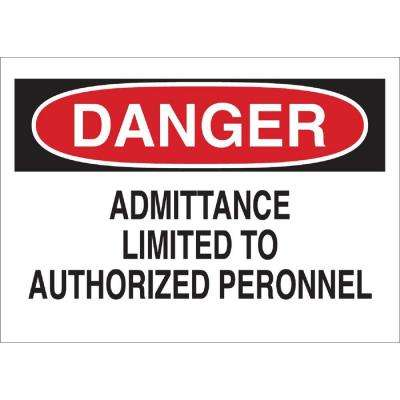 14 in. H x 20 in. W Premium Fiberglass Admittance Sign
