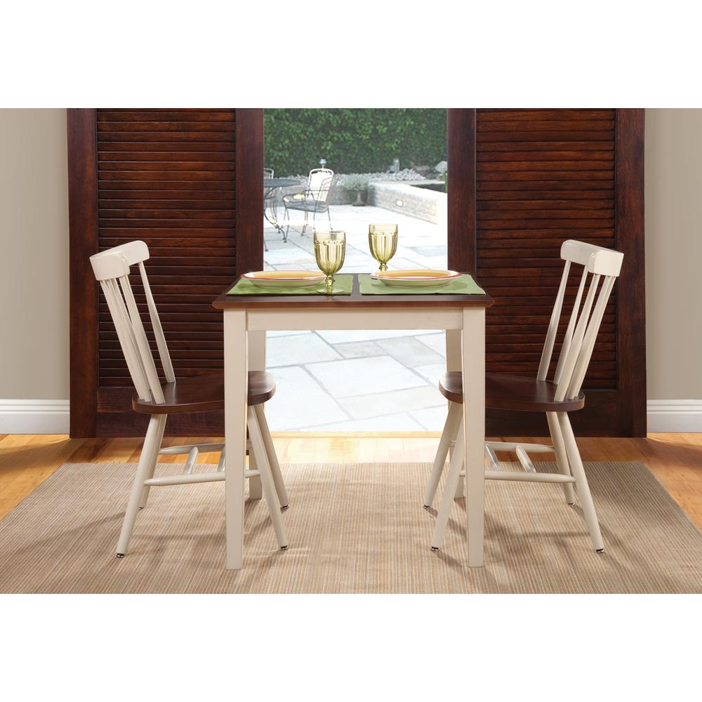 International Concepts Almond And Espresso Solid Wood Dining Table  K12 3030 30S   The Home Depot