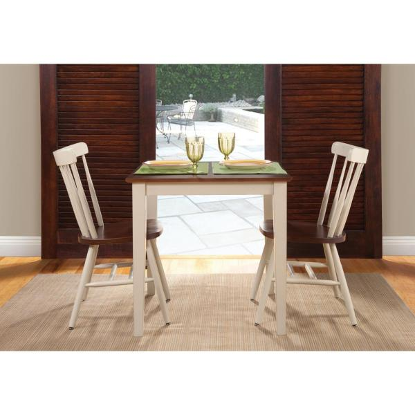 International Concepts Almond and Espresso Solid Wood Dining Table K12-3030-30S