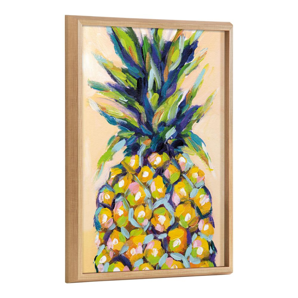 Kate And Laurel Blake 24 In X 18 In Pineapple Study No 2 By Rachel Christopoulos Framed Wooden Wall Art 219337 The Home Depot