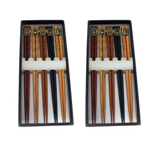 10 Pairs Bamboo Wooden Chopsticks