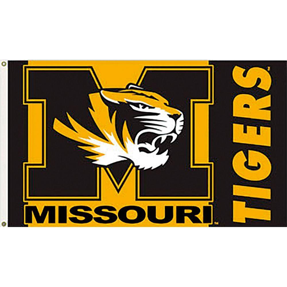 Seasonal Designs NCAA University of Missouri 3 ft  x 5 ft  Collegiate  2-Sided Flag with Grommets