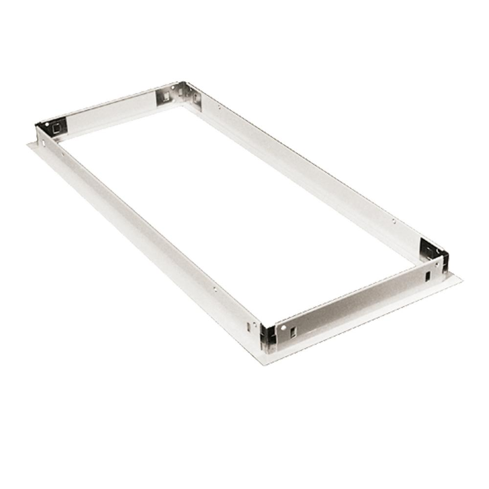 1x4 White Dry Wall Frame Kit for Commercial Lighting Fixtures