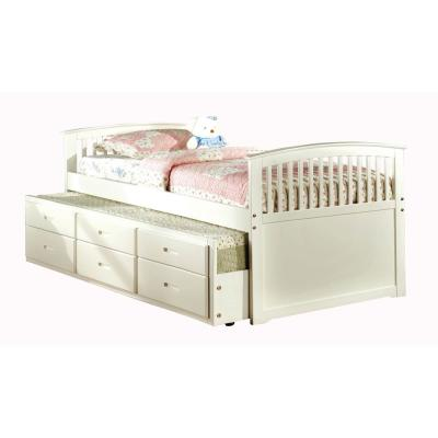 Bella White Full Bed with Trundle and 3-Drawers