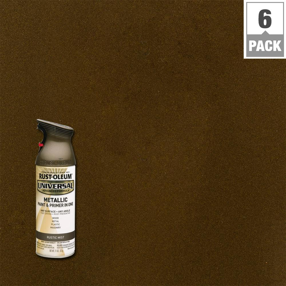 Rust-Oleum Universal 11 oz. All Surface Metallic Rustic Mist Spray Paint and primer in 1 (6-Pack)