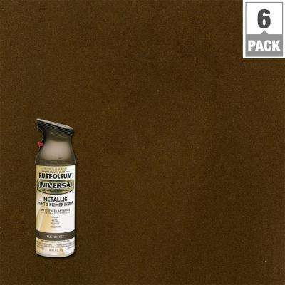 11 oz. All Surface Metallic Rustic Mist Spray Paint and Primer in One (6-Pack)