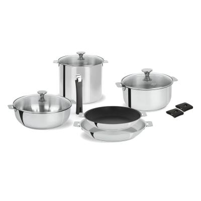 Tulipe 11-Piece Stainless Steel Cookware Set