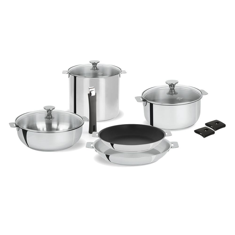 Cristel Tulipe 11-Piece Stainless Steel Cookware Set ST11PTAN