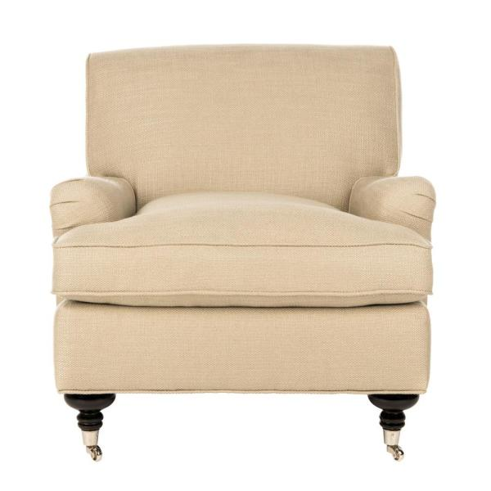 Safavieh Chloe Beige/Espresso Accent Chair MCR4571M