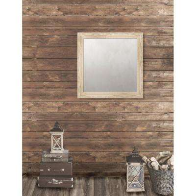 Harrington 29.125 in. x 29.125 in. Reclaimed Heritage Framed Antique Mirror