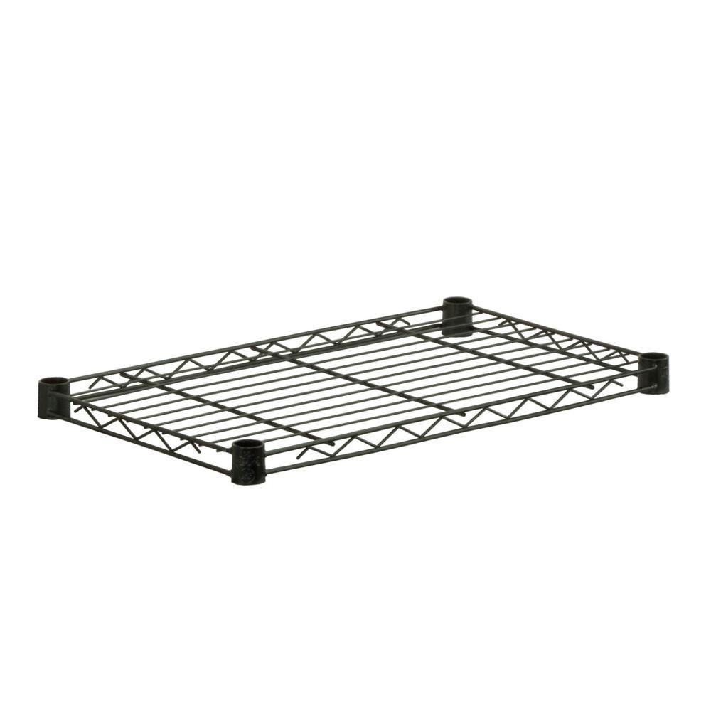 14 in. x 24 in. x 48 in. 4-Shelf Steel Shelving Unit in Black