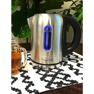 Click here to buy  1.7 l Stainless Steel Electric Tea Kettle with 5 Preset Temperatures.