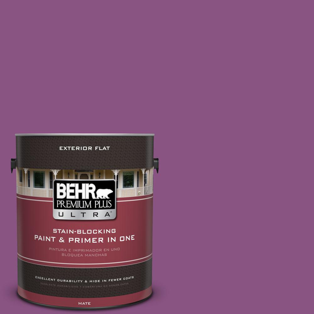 BEHR Premium Plus Ultra Home Decorators Collection 1-gal. #HDC-MD-07 Dynamic Magenta Flat Exterior Paint