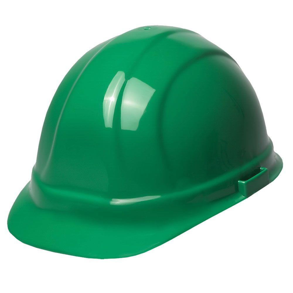 erb omega ii 6 point suspension nylon mega ratchet cap hard hat in green 19958 the home depot. Black Bedroom Furniture Sets. Home Design Ideas