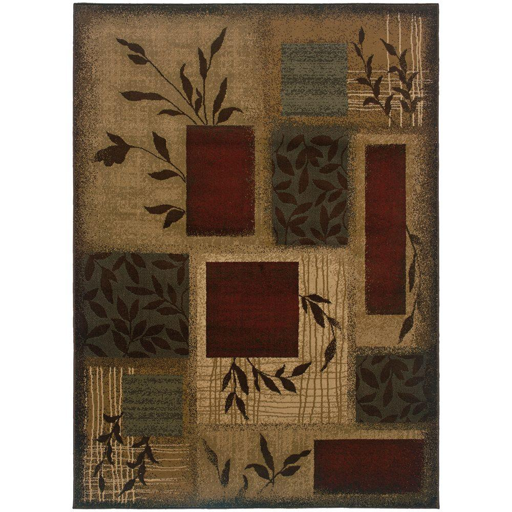Home Decorators Collection Veneer Beige Multi 5 Ft X 7 Ft