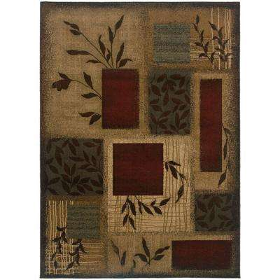 Veneer Beige/Multi 10 ft. x 13 ft. Area Rug