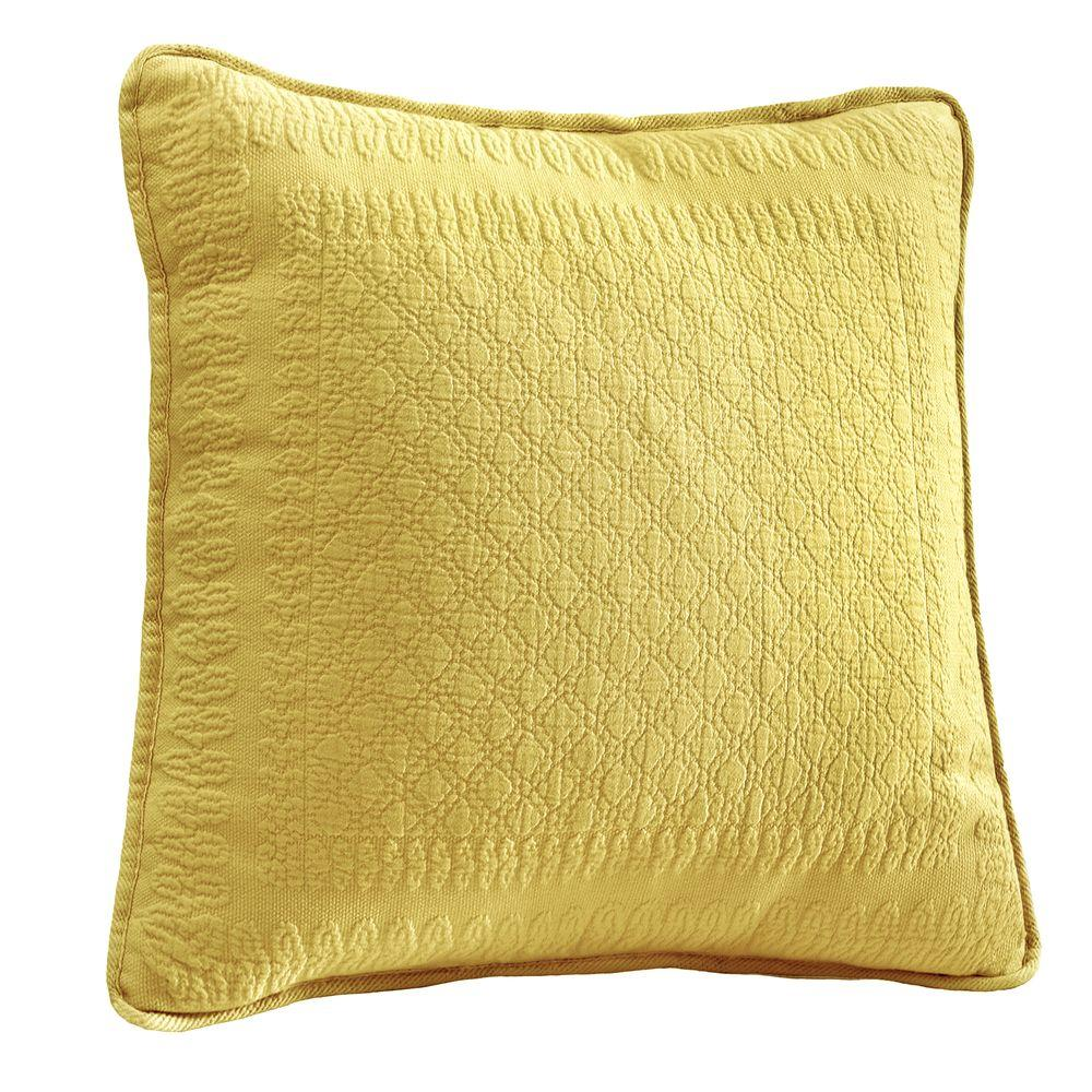 Historic Charleston Collection King Charles 18 in. Sunshine Square Decorative Pillow