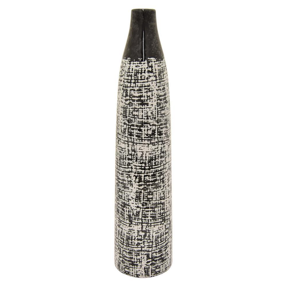 10 in. Black Ceramic Decorative Vase