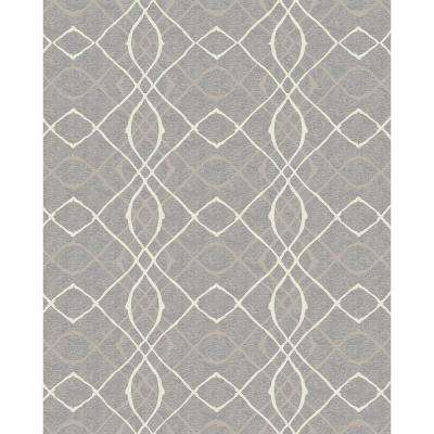 Washable Amara Grey 8 ft. x 10 ft. Area Rug