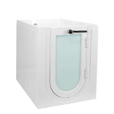 Front Entry 32 in. Acrylic Walk-In Micro Bubble Air Bathtub in White with Right Hand Outward Swing Door and 2 in. Drain