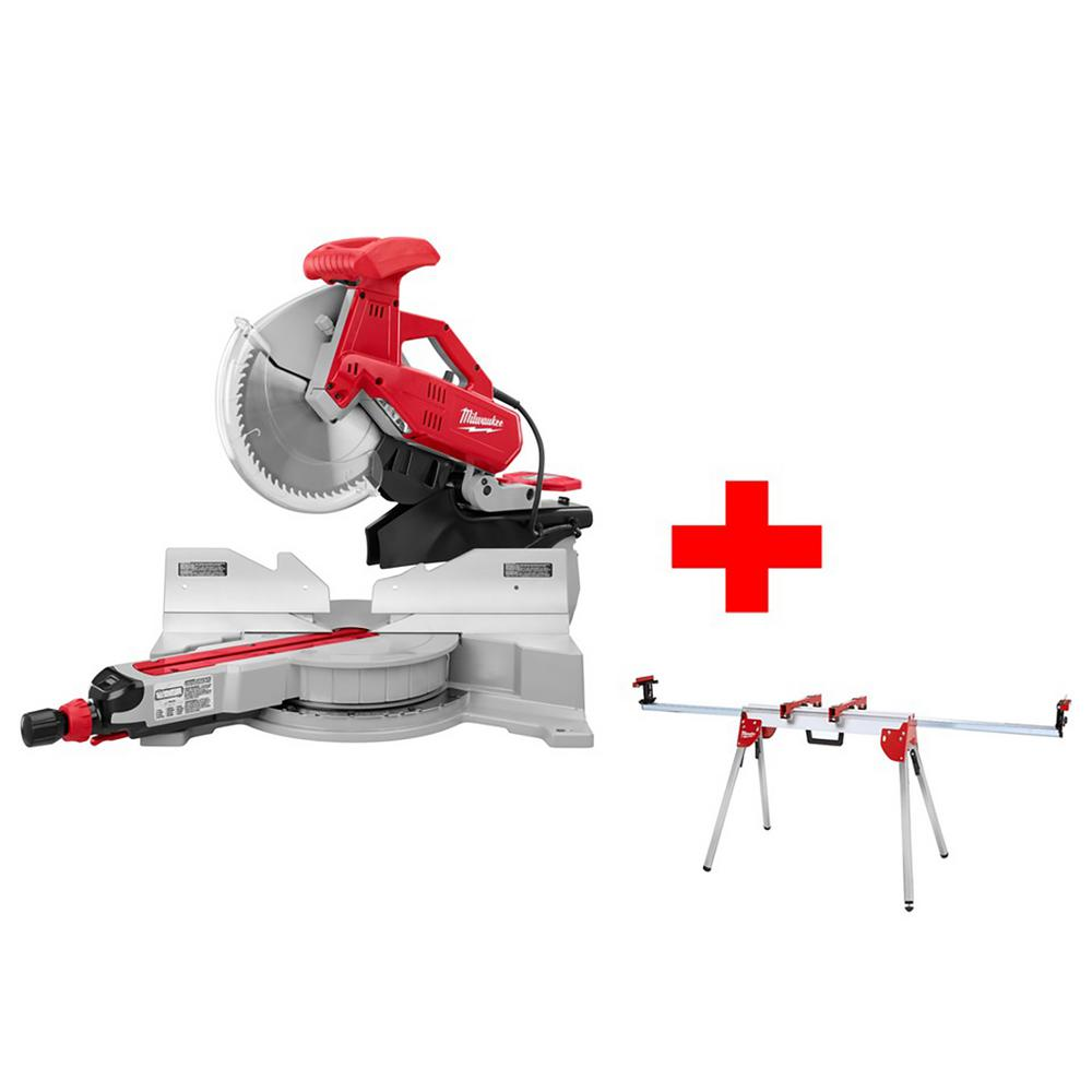Milwaukee 12 in. Sliding Dual Bevel Miter Saw with Foldin...