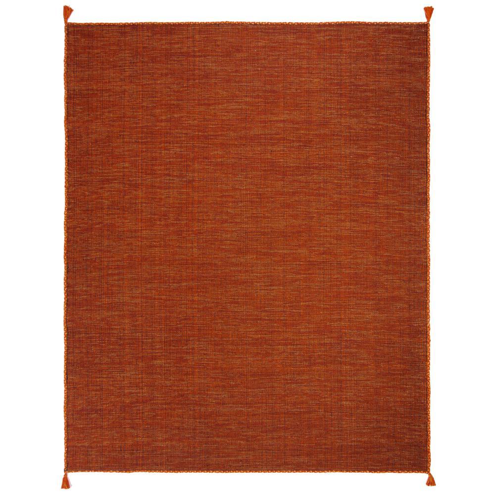 Montauk Orange/Black 8 ft. x 10 ft. Area Rug