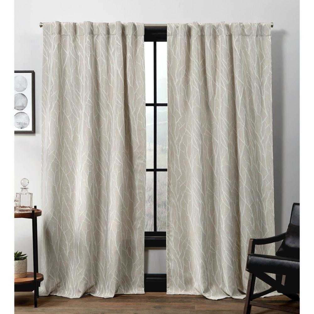 Exclusive Home Curtains Forest Hill HT Linen Blackout Hidden Tab Top Curtain Panel - 52 in. W x 96 in. L (2-Panel)