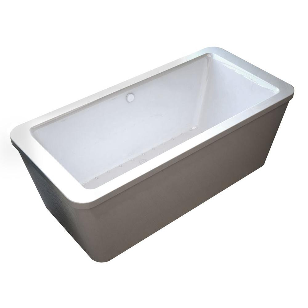 Universal Tubs Carnel 5.6 ft. Air Bath Tub in White