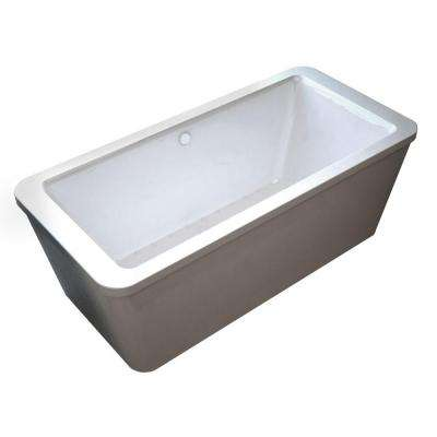 Carnel 5.6 ft. Air Bath Tub in White