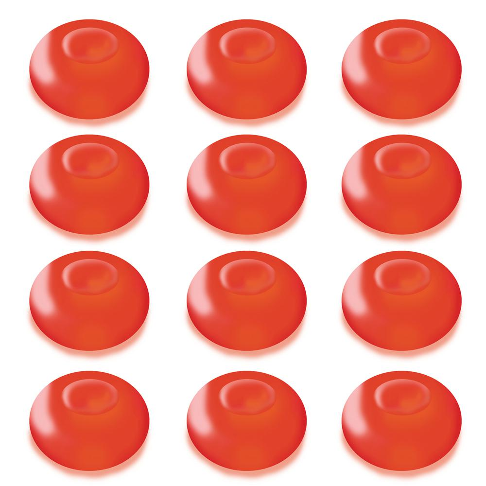 Lumabase 1.25 in. D x 0.875 in. H x 1.25 in. W Red Floating Blimp Lights (12-Count)