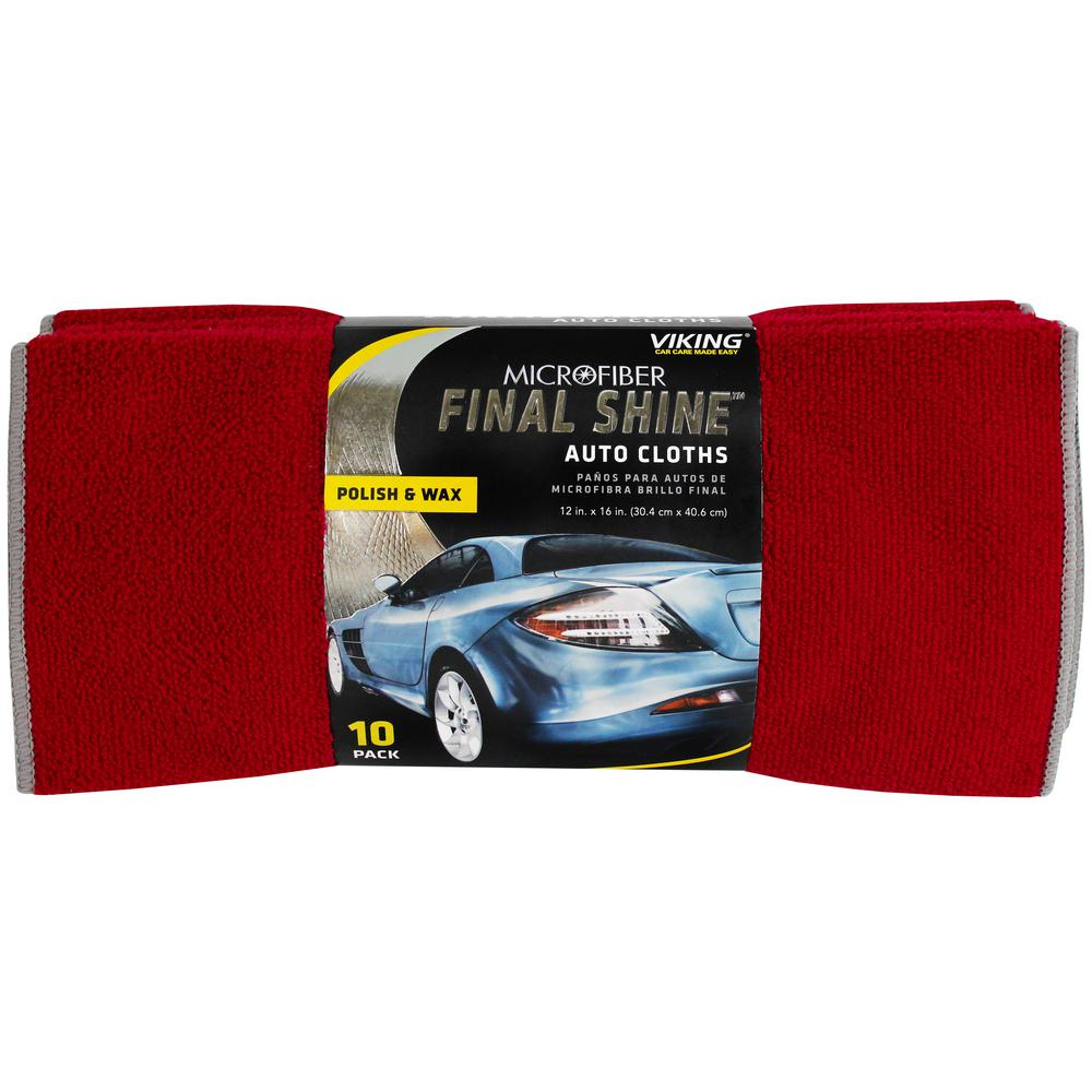Auto cleaning cloths 10 pack
