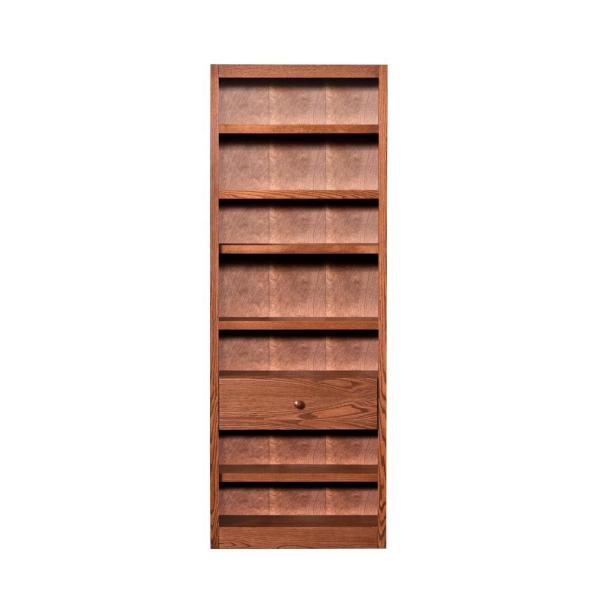 Concepts In Wood Dry Oak Open Bookcase BKFS-3084-D