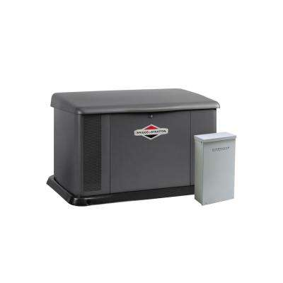 20,000-Watt Automatic Air Cooled Standby Generator with Aluminum Enclosure and Symphony II 200 Amp Transfer Switch