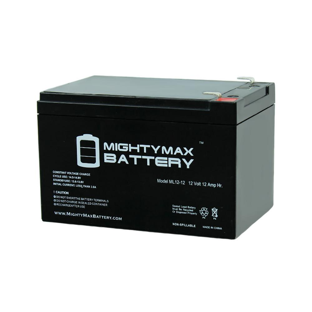 MIGHTY MAX BATTERY 12-Volt 12 Ah Sealed Lead Acid (SLA) Rechargeable Battery