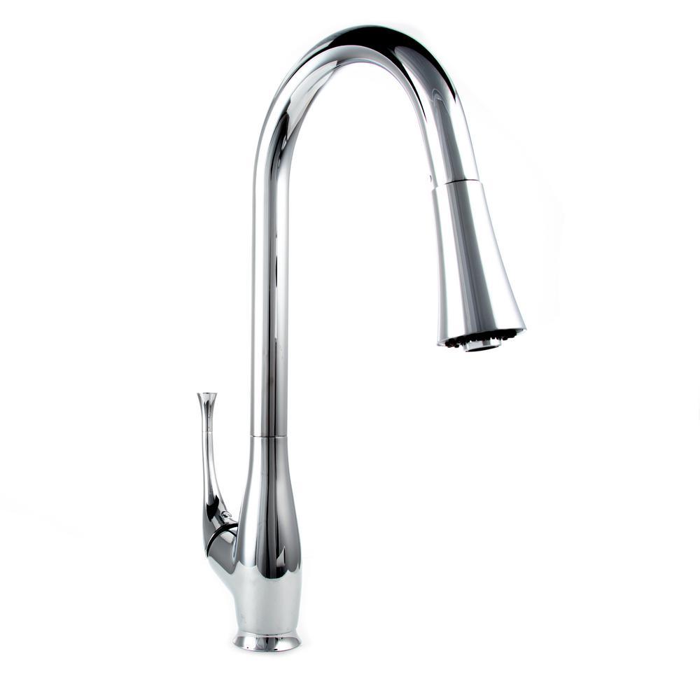 ZLINE Kitchen and Bath Castor Single-Handle Pull-Down Sprayer Kitchen Faucet in Chrome Finish