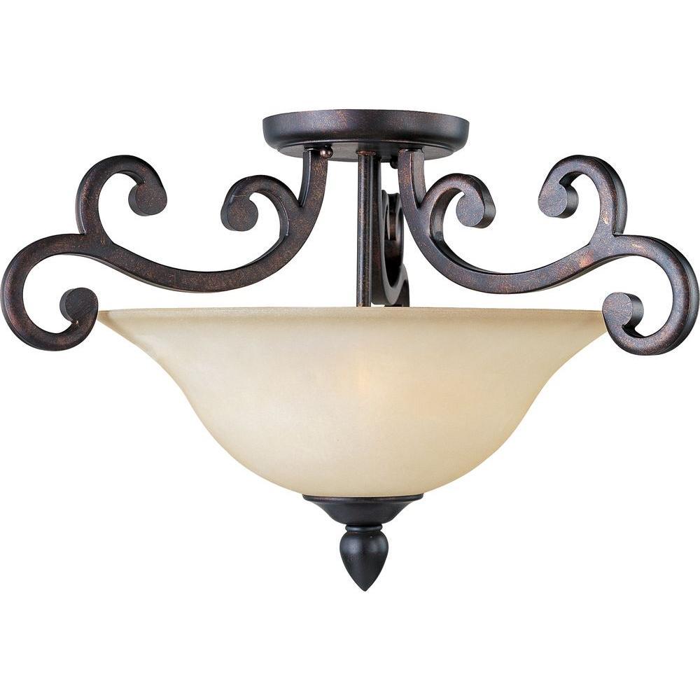Maxim Lighting Richmond 3-Light Colonial Umber Semi-Flush