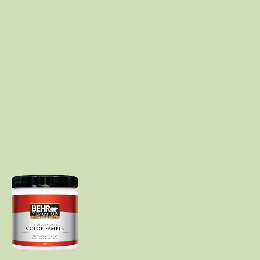 8 oz. #430C-3 Peridot Flat Interior/Exterior Paint and Primer in One