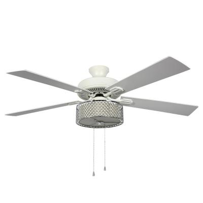 Zoe 52 in. LED Indoor Chrome Ceiling Fan with Light