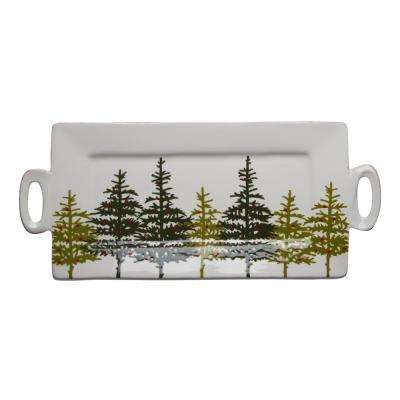 Tis The Season Forest 1-Piece Earthenware Platter