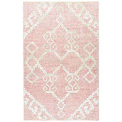 Solitaire Pink 9 ft. 6 in x 13 ft. Area Rug