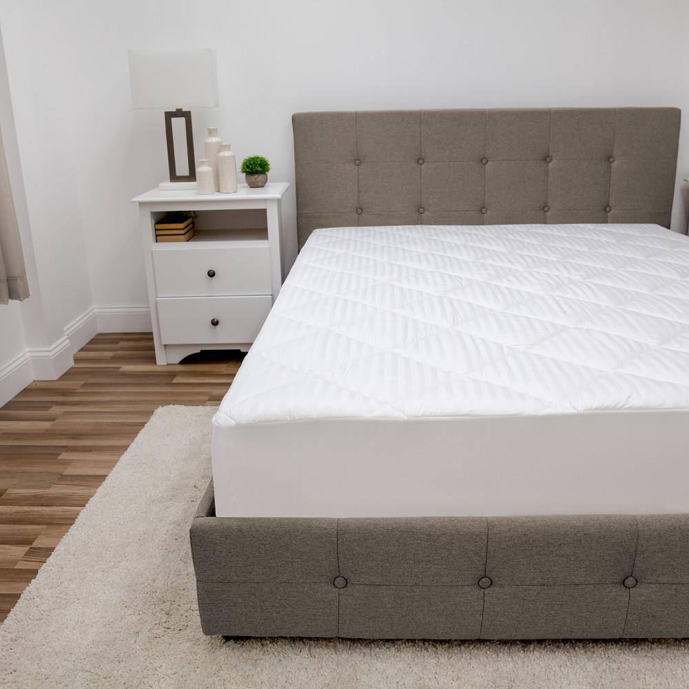 Restonic 15 In Full Cotton 300 Thread Count Mattress Pad