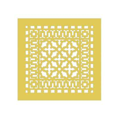 Scroll Series 14 in. x 14 in. Aluminum Grille, Sun Gold without Mounting Holes
