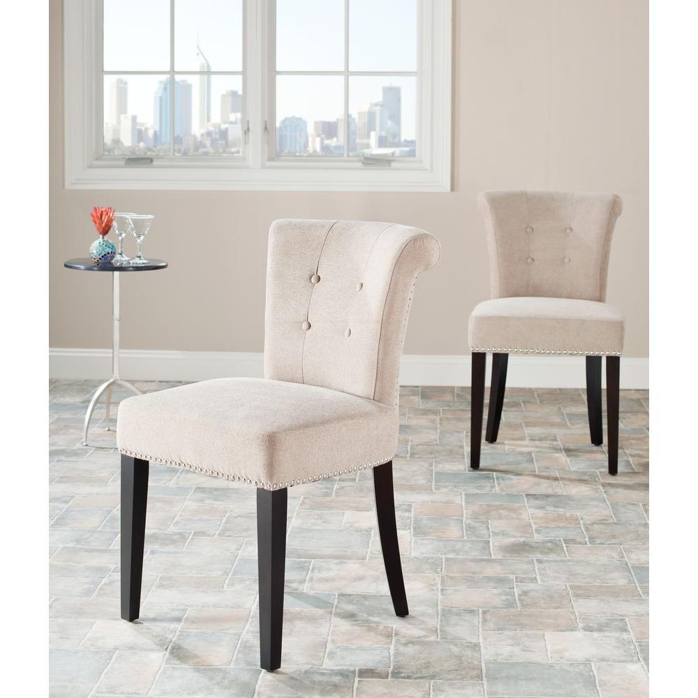 Safavieh Britannia Wheat Cotton Blend Side Chair (Set of 2)